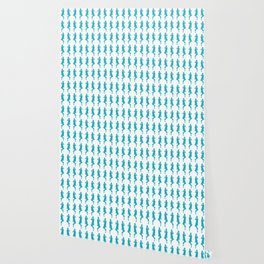 Turquoise Bold Mod GoGo Girls Wallpaper