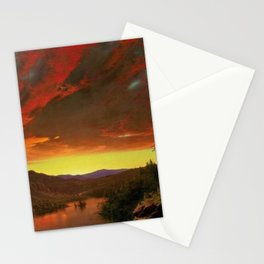 Twilight in the Wilderness by Frederic Edwin Church Stationery Cards