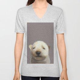 Jindo puppy runny nose Unisex V-Neck