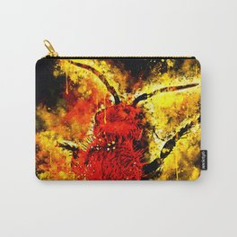 velvet ant wasp dasymutilla ws Carry-All Pouch