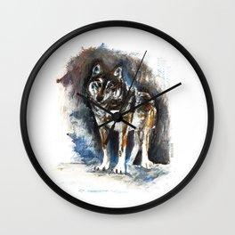Totem Timber Wolf (c) 2017 Wall Clock