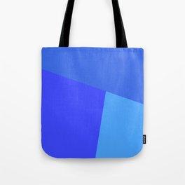 dégradé trapèze bleu roi Tote Bag