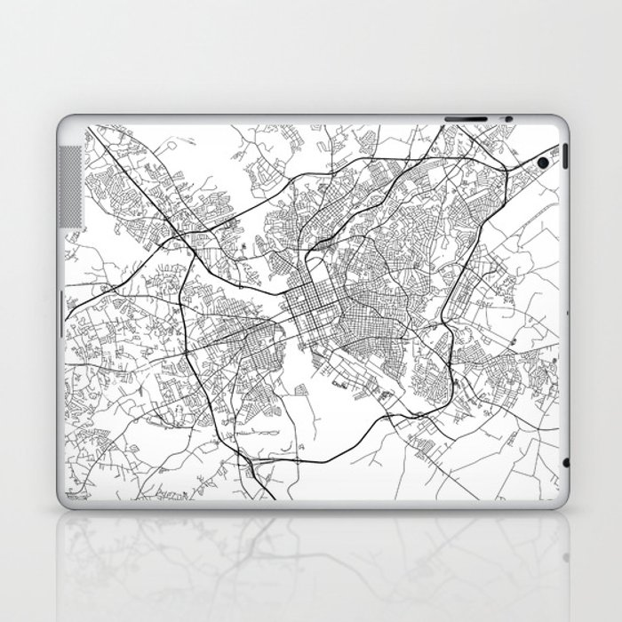 Minimal City Maps - Map Of Columbia, South Carolina, United States Laptop &  iPad Skin by valsymot