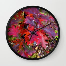 VIOLET RED SOUND of AUTUMN Wall Clock