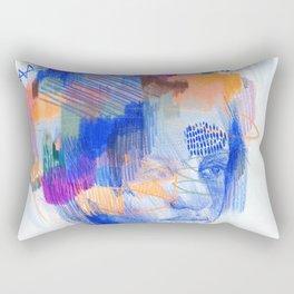 Monday Blue Rectangular Pillow