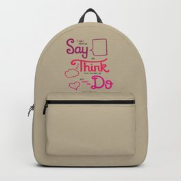 Sense & Sensibility Backpack
