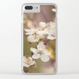 Blooming spring tree Clear iPhone Case