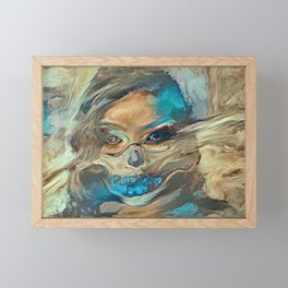 Sand Storm Ghost | AI-Generated Art Framed Mini Art Print