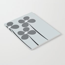 Abstract Night Flowers Notebook