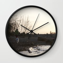 Kits Beach Sunset 1 Wall Clock