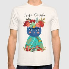 Frida Cathlo Natural SMALL Mens Fitted Tee