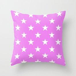 Stars (White/Violet) Throw Pillow