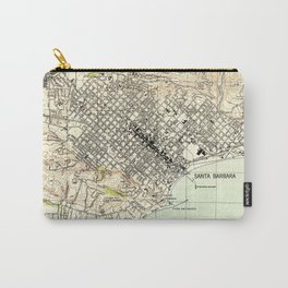Vintage Map of Santa Barbara California (1944) Carry-All Pouch