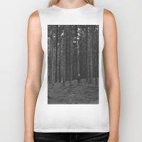 woods Biker Tanks featuring Woods by Bird Heart
