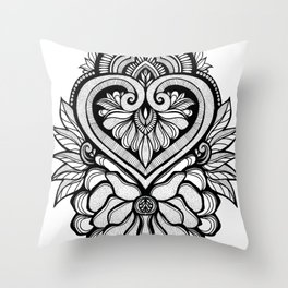 Sacred Flora Throw Pillow