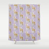 fawn Shower Curtains featuring Fawn by Pastelliaa