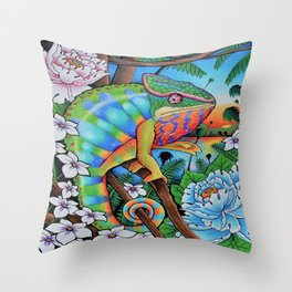 'Discovery' 11''x14'' Colored Pencil and Marker on Bristol Board 2013 Dan Gribben Throw Pillow