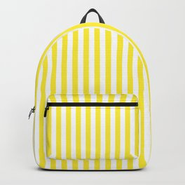 Summer Yellow and White Cabana Stripe Backpack