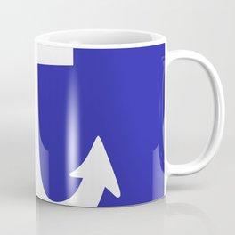 Anchor (White & Navy Blue) Coffee Mug