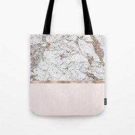 Gleaming rose gold blush Tote Bag