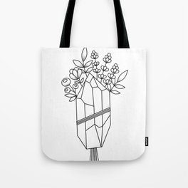 Crystal Flower Bouquet Tote Bag