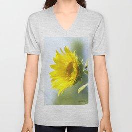 Ladybug and it's Sunflower Unisex V-Neck
