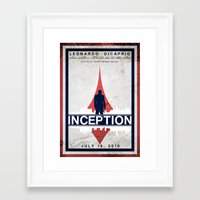 inception Framed Art Prints featuring Inception by Anton Lundin