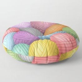 So Much Yarn Floor Pillow