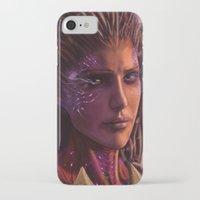 starcraft iPhone & iPod Cases featuring Sarah Kerrigan  by p1xer