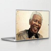 mandela Laptop & iPad Skins featuring ICON: Mandela by Diavu'