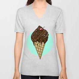 Ice cream cone -LBC Unisex V-Neck