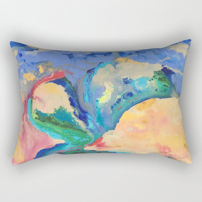 Watercolor Series (Exploding Flower) Rectangular Pillow