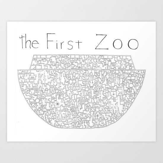 The First Zoo Art Print
