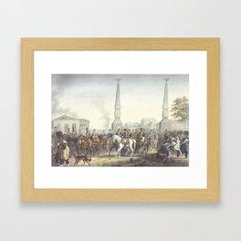 Christian Wilhelm von Faber du Faur 1780-1857 At the Kaluga Gate Moscow Framed Art Print