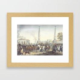 Christian Wilhelm von Faber du Faur 1780-1857 At the Kaluga Gate Moscow Framed Art Print
