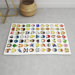 Super Smash Bros Ultimate Stock Icons Rug