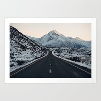The road to Mt Cook Art Print