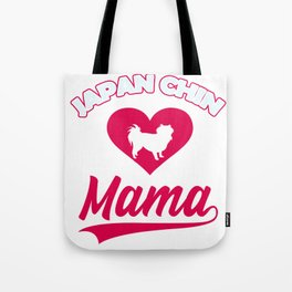 Japanese dog Mama with big heart for cute dogs and puppies Tote Bag