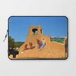 Mural and adobe tower Taos New Mexico Laptop Sleeve