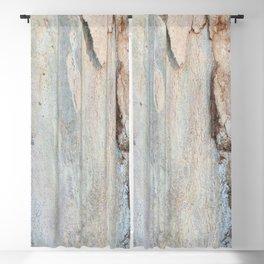 Eucalyptus tree bark and wood Blackout Curtain