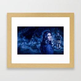 Charumati - the Purple-Eyed Werewolf Framed Art Print