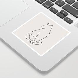 One Line Kitty Sticker