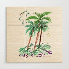 """""""Triplet Palms"""" Wood Wall Art"""