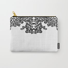 black and white vintage pattern IV Carry-All Pouch