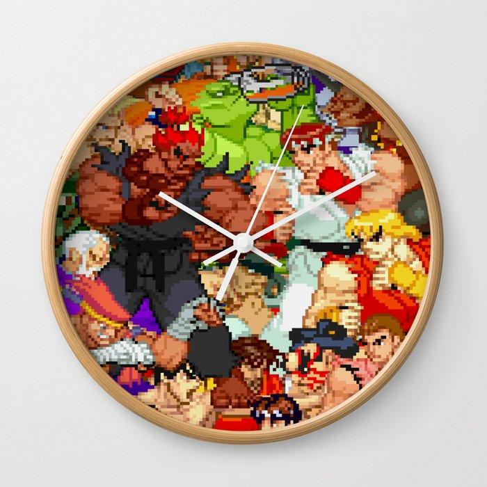 Street Fighter Alpha Fight Wall Clock By Vinoburrito Society6