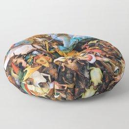 Pieter Bruegel - The Fall Of The Rebel Angels - Digital Remastered Edition Floor Pillow