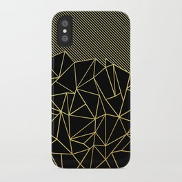 Ab Lines 45 Gold iPhone Case