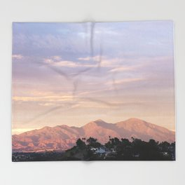 Sunset over Saddleback Mountain Throw Blanket