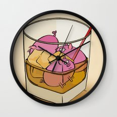 Pickle Pigs Too Wall Clock