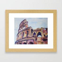 Colosseum in Colour Framed Art Print